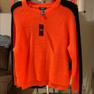Forever 21 Sweaters - Orange and black sweater from forever 21